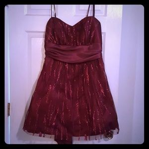Red and burgundy dress